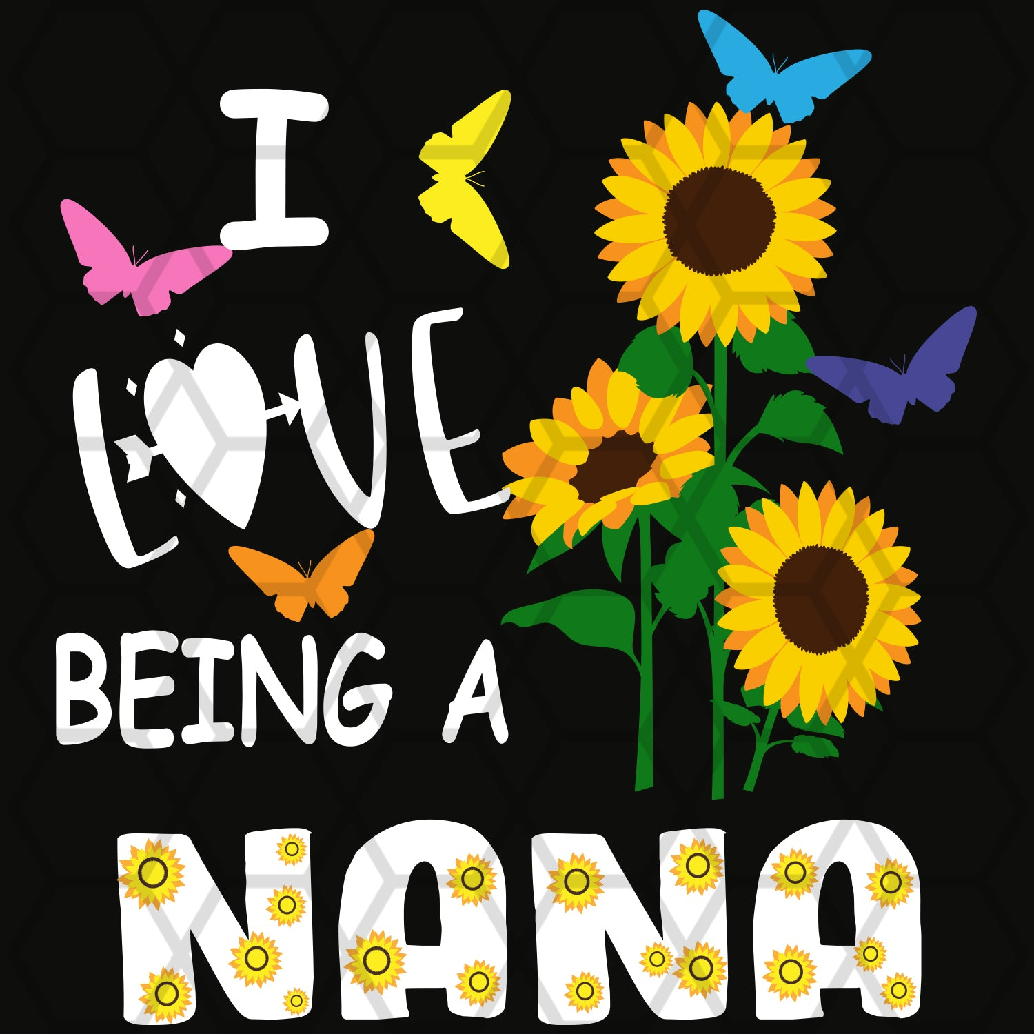 I love being a nana, nana svg, nana gift, nana shirt, nana life, gift for nana, best nana ever,family svg, family shirt,family gift,trending svg, Files For Silhouette, Files For Cricut, SVG, DXF, EPS, PNG, Instant Download