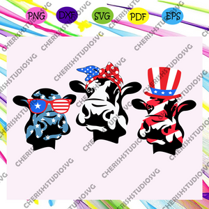 4th of July Cow American Flag bundle svg, independence day svg, happy 4th of july, patriotic svg, july 4th fireworks,memorial day svg, freedom svg, independence day gift,For Silhouette, Files For Cricut, SVG, DXF, EPS, PNG Instant Download