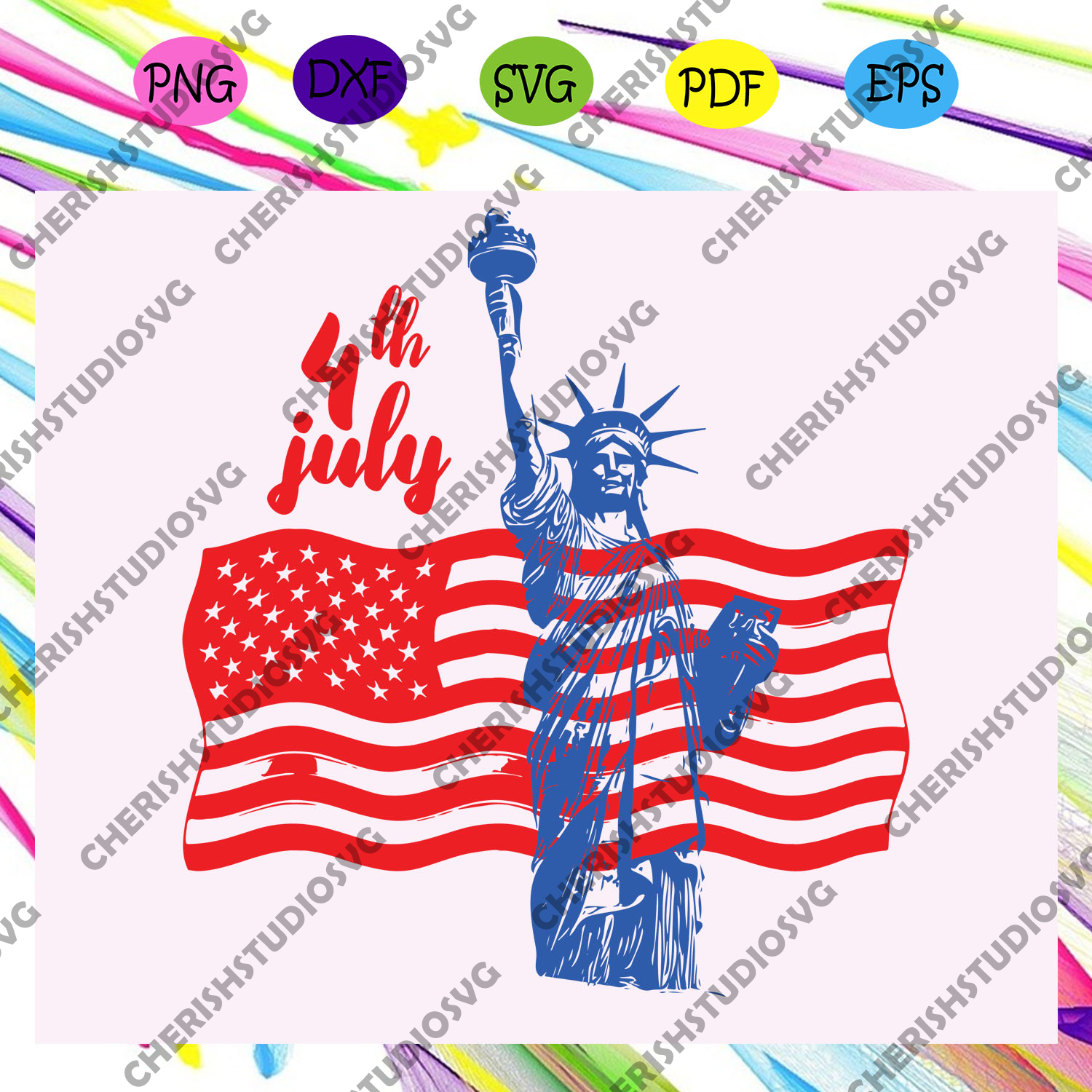 4th of July , Statue of Liberty, independence day svg, happy 4th of july svg,patriotic svg, independence day gift, For Silhouette, Files For Cricut, SVG, DXF, EPS, PNG Instant Download