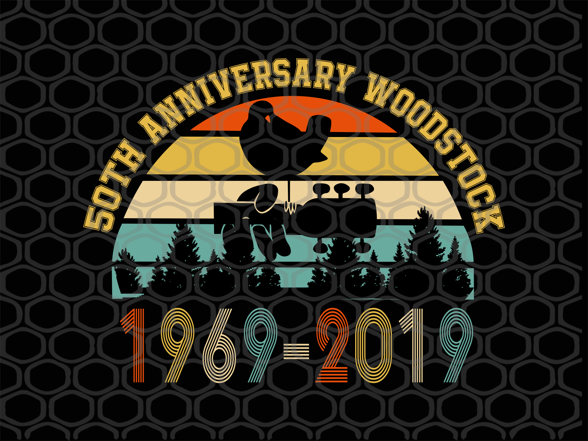 50th anniversary woodstock, woodstock, retro vintage, vintage woodstock, music svg, peace svg, love svg, woodstock 1969, hippie svg,trending svg, Files For Silhouette, Files For Cricut, SVG, DXF, EPS, PNG, Instant Download
