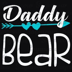 Daddy bear, daddy svg, daddy gift, daddy play volleyball, gift for daddy, family svg, family shirt,family gift,trending svg, Files For Silhouette, Files For Cricut, SVG, DXF, EPS, PNG, Instant Download
