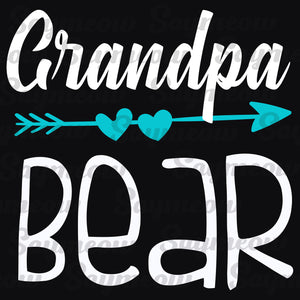 Grandpa bear,  grandpa svg, grandpa gift, grandpa shirt, gift for grandpa, grandpa birthday gifts, father's day gift,family svg, family shirt,family gift,trending svg, Files For Silhouette, Files For Cricut, SVG, DXF, EPS, PNG, Instant Download