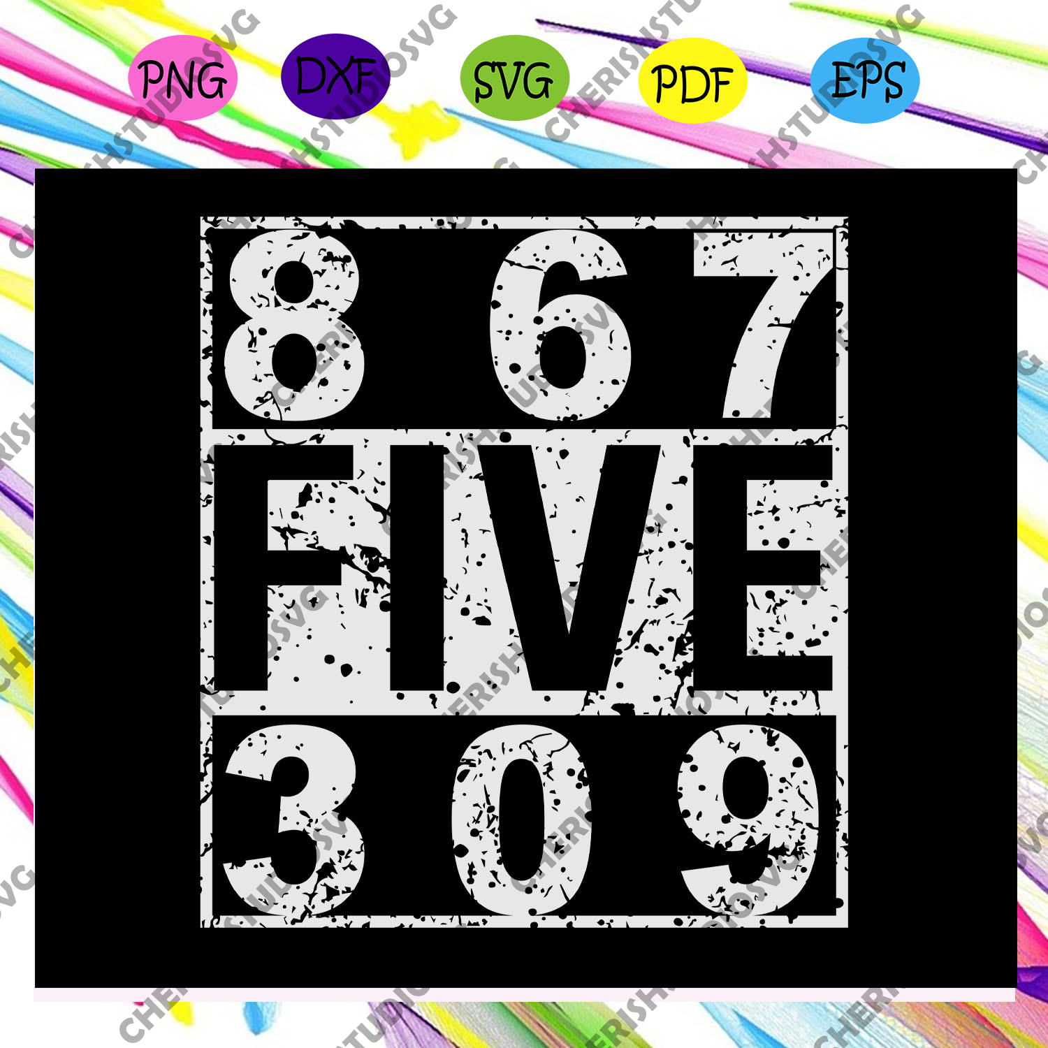 867 five 309, 8675309 svg, vintage Eighties svg,files For cricut Silhouette SVG, DXF, EPS, PNG Instant Download
