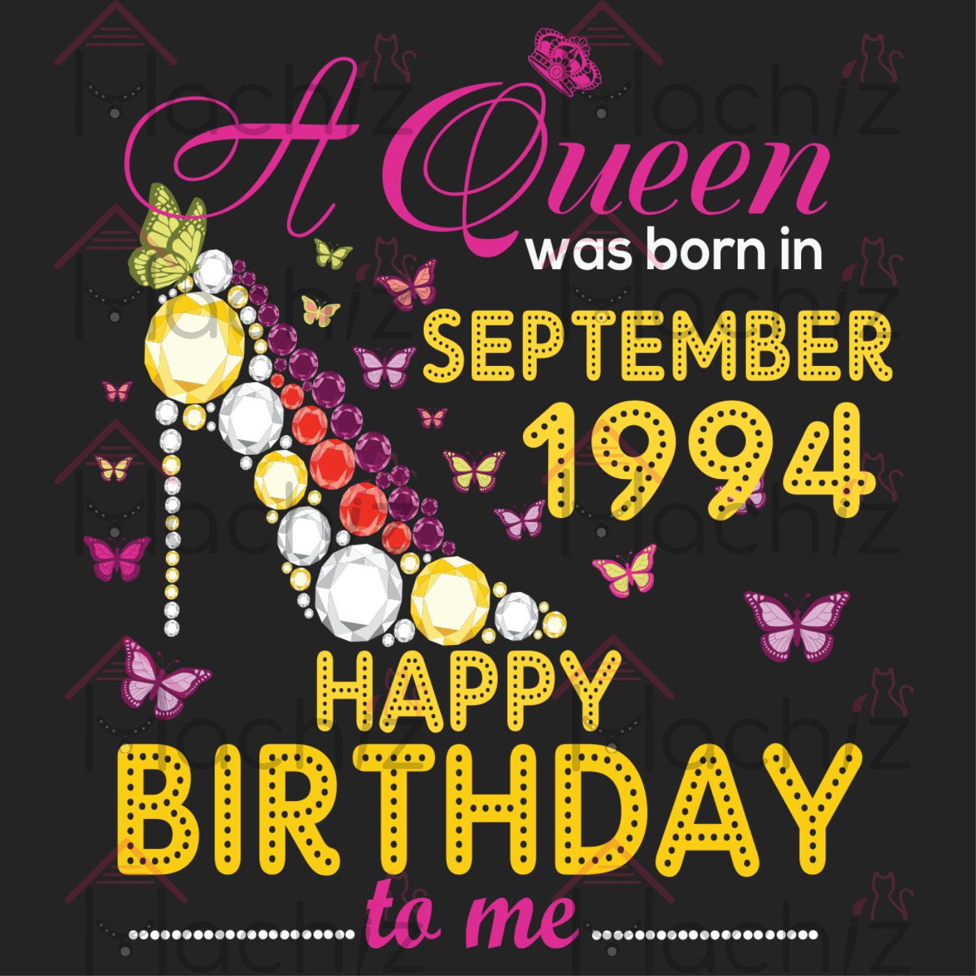 A Queen was born in September 1994 Happy Birthday to me, Birthday Svg, Birthday Queen svg, born in September, September Birthday, born in 1994, birthday gift, birthday anniversary, Queen birthday, birthday Queen