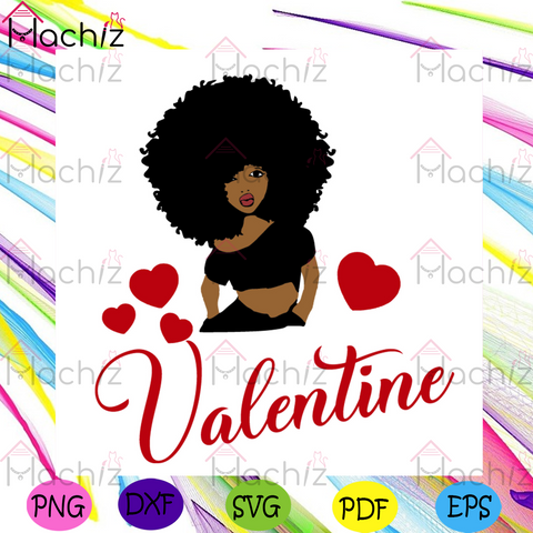 Afro Woman Valentine SVG, Valentine Svg, Valentines Day Svg, Happy Valentines Day svg, Black Girl Svg, Afro Girl Svg, Black Girl Hair Svg, African American Svg, Valentines Gift Svg, Valentine Quotes Svg, Heart Svg, Love Svg, Couple Svg