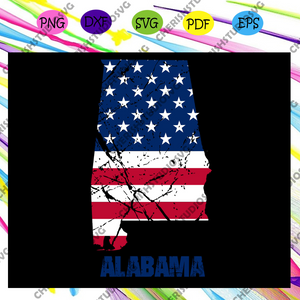 Alabama flag , independence day svg,american flag, happy 4th of july svg,patriotic svg, independence day gift,For Silhouette, Files For Cricut, SVG, DXF, EPS, PNG Instant Download