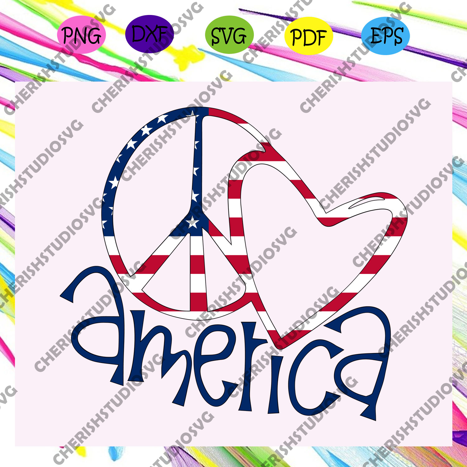 America heart, American Svg, 4th Of July Svg, Fourth Of July Svg, Patriotic American Svg, Independence Day Svg, Memorial Day, Files For Silhouette, Files For Cricut, SVG, DXF, EPS, PNG, Instant Download
