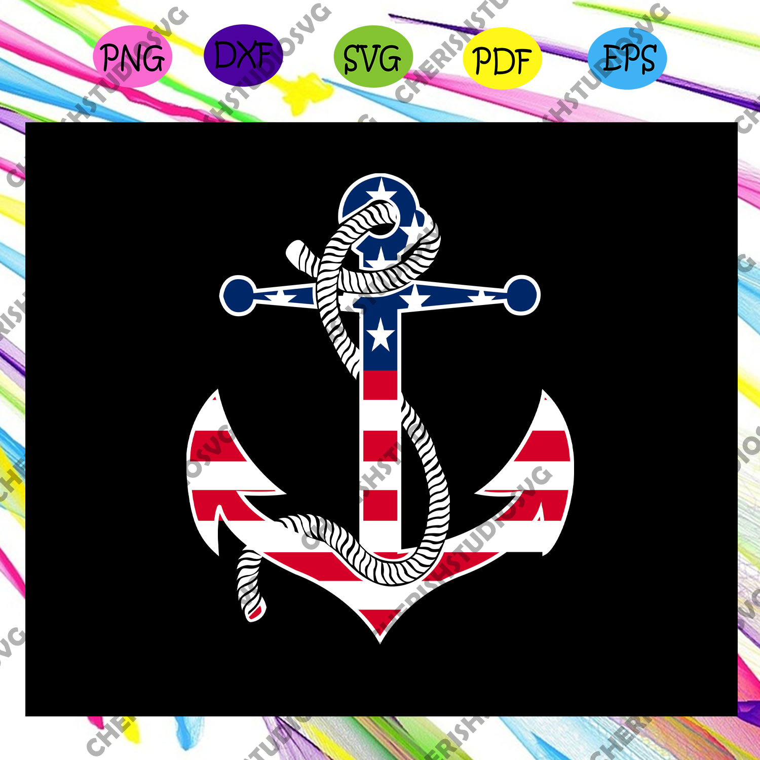 Anchor independence america flag, anchor svg, anchor shirt,independence day svg,4th of july,funny 4th of july,america flag,4th july gift,independence gift,america flag For Silhouette, Files For Cricut, SVG, DXF, EPS, PNG Instant Download