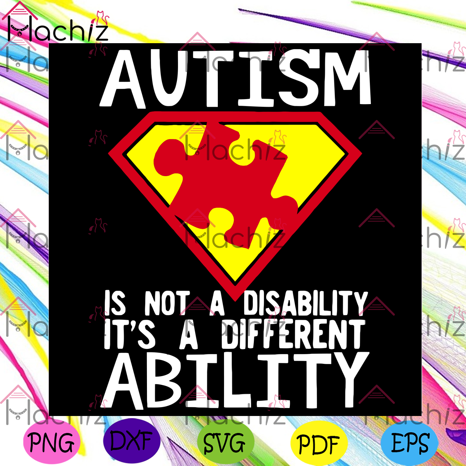 Autism Is Not A Disability Svg, Autism Svg, Autism Awareness Svg, Autism Love, Autism Quote Svg, Different Ability Svg, Autism Quote Gift, Autism Awareness Gift, Autism Awareness Shirt, Svg Cricut, Silhouette Svg Files