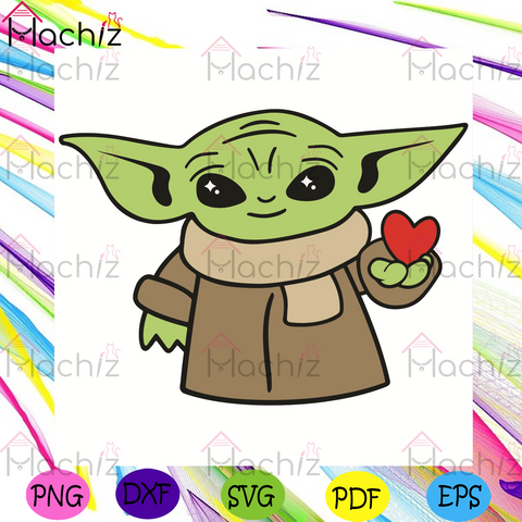 Baby Yoda Heart Svg, Valentine Svg, Baby Yoda Svg, Heart Svg, Happy Valentine Day Svg, Baby Yoda Love Svg, Baby Yoda Gifts Svg, Red Heart Svg, Love Svg, Valentine Day Svg, Valentine Love Svg, Valentine Gifts Svg
