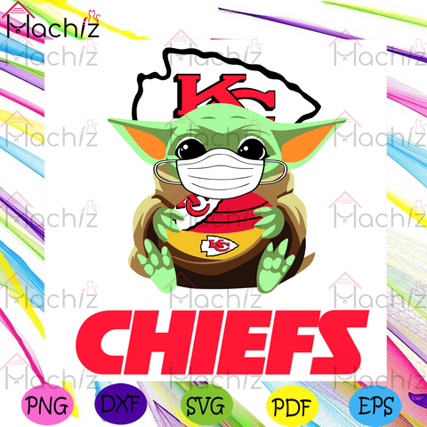 Baby Yoda Kansas City Chiefs Svg, Sport Svg, Kansas City Chiefs Svg, Baby Yoda Svg, Masking Baby Yoda Svg, Quarantine Svg, KC Chiefs Logo Svg, Chiefs Svg, Chiefs Fans Svg, Chiefs Champions Svg, Football Svg, NFL Svg, Super Bowl 2021 Svg
