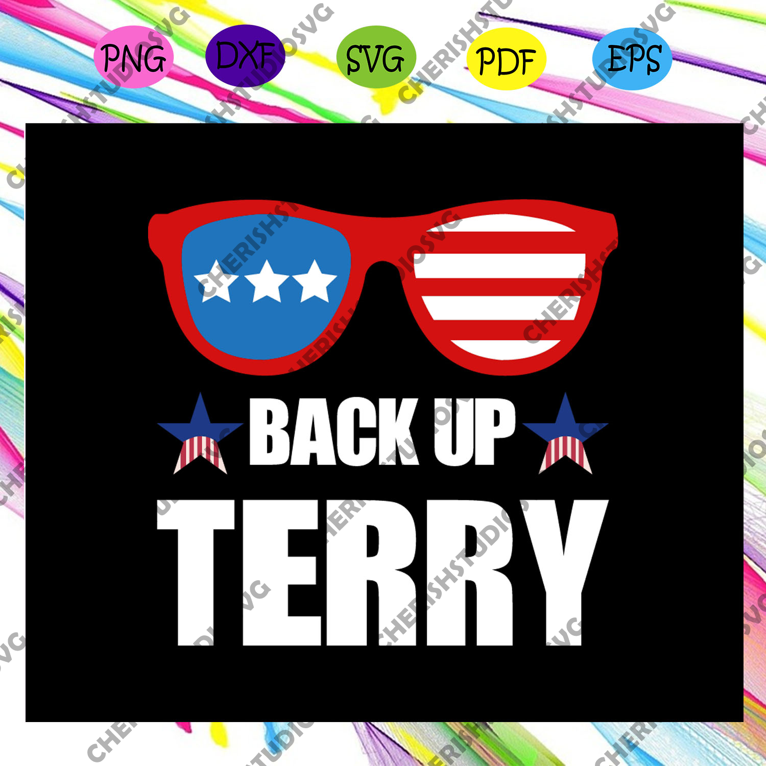 Back up terry, American Svg, 4th Of July Svg, Fourth Of July Svg, Patriotic American Svg, Independence Day Svg, Memorial Day, Files For Silhouette, Files For Cricut, SVG, DXF, EPS, PNG, Instant Download