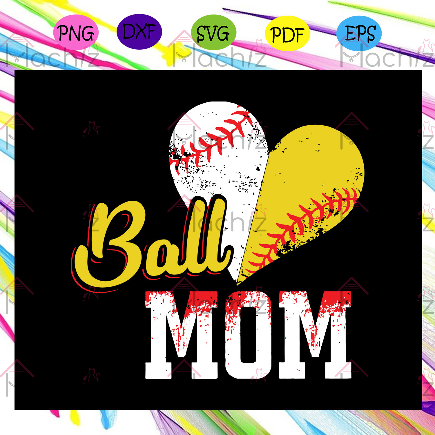 Ball mom softball mom , Mothers Day Gift,Trendy Mom,trending svg, Files For Silhouette, Files For Cricut, SVG, DXF, EPS, PNG, Instant Download
