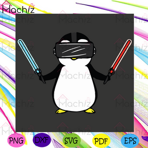 Beat Saber VR Gamer Penguin Svg, Trending Svg, Beat Saber Svg, Gamer Penguin Svg, Penguin Svg, Cute Penguin Svg, Funny Penguin Svg, Gamer Penguin Gift, Gamer Penguin Shirt, Funny Gift, Svg Cricut, Silhouette Svg Files