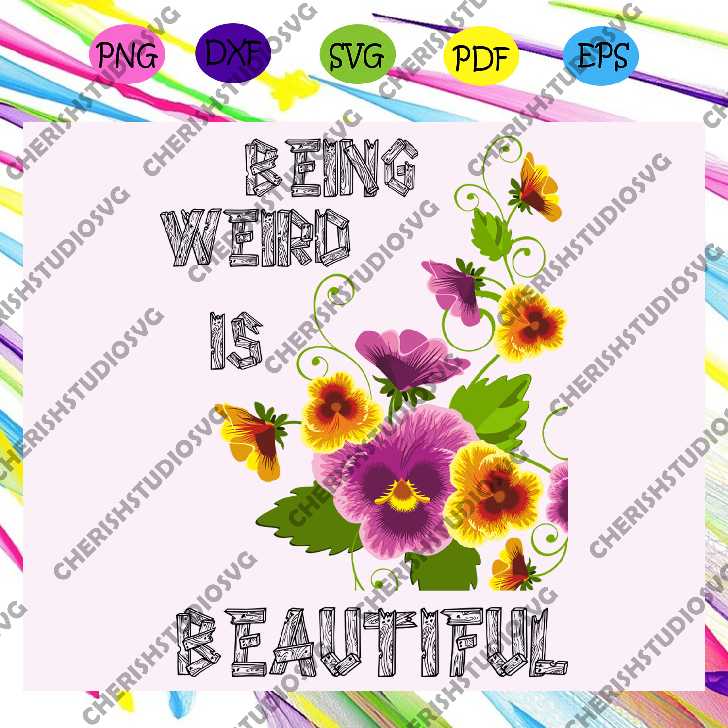 Being weird is beautiful svg, weird thing, being weird, life is interesting, being interesting, being beautiful, being different, natural life,trending svg For Silhouette, Files For Cricut, SVG, DXF, EPS, PNG Instant Download