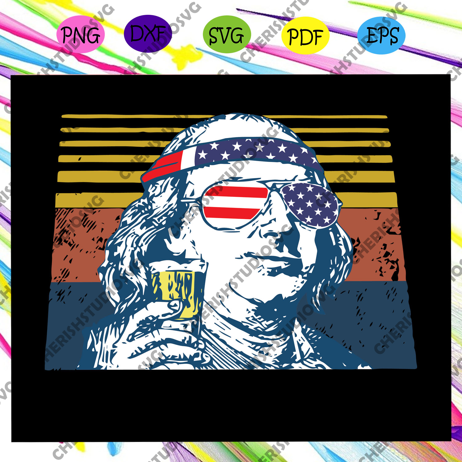 Ben Drakin Svg, Ben Drankin 4th Of July Patriotic Svg, American Svg, 4th Of July Svg, Fourth Of July Svg, Patriotic American Svg, Merican Svg, Independence Day Svg, Files For Silhouette, Files For Cricut, SVG, DXF, EPS, PNG, Instant Download