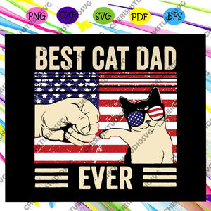Best cat dad ever svg, cat dad american flag svg, cat dad vintage svg, father vintage gift, fathers day svg, cat svg, cat lover, dad life, dad gift svg, fathers day lover, Files For Silhouette, Files For Cricut, SVG, DXF, EPS, PNG, Instant Download