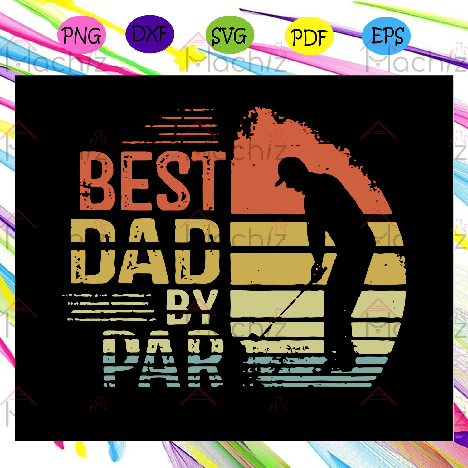 Best dad by par shirt gift for father svg, fathers days svg, fathers day flag svg, fathers day gift, dad life svg, gift for dad svg, golf lover svg, gift for papa svg, fathers day gift svg, Files For Silhouette, Files For Cricut, SVG, DXF, EPS