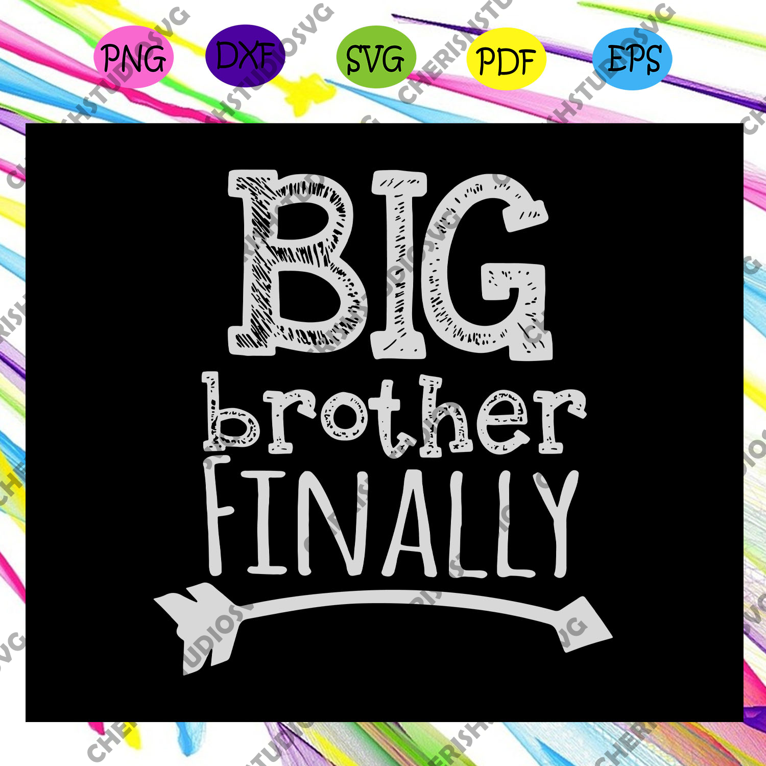 Big Brother Finally Svg, Novelty Svg, Gift For Big Brother, Big Brother Gift Svg, Brother 2020 For Silhouette, Files For Cricut, SVG, DXF, EPS, PNG Instant Download