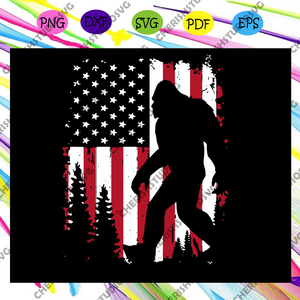 Bigfoot 4th Of July Svg, America 4th Of July Patriotic Svg, American Svg, 4th Of July Svg, Fourth Of July Svg, Patriotic American Svg, Merican Svg, Independence Day Svg, Files For Silhouette, Files For Cricut, SVG, DXF, EPS, PNG, Instant Download