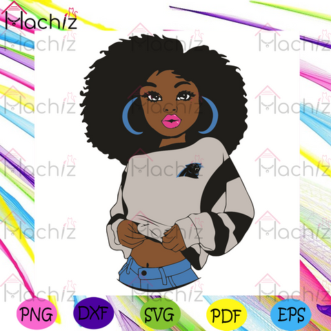 Black Girl Carolina Panthers Svg, Sport Svg, Carolina Panthers Football Team Svg, Carolina Panthers Svg, Black Girl Svg, Carolina Panthers Svg, Carolina Panthers Fans Svg, Carolina Panthers Gifts Svg, Carolina Panthers Logo Svg