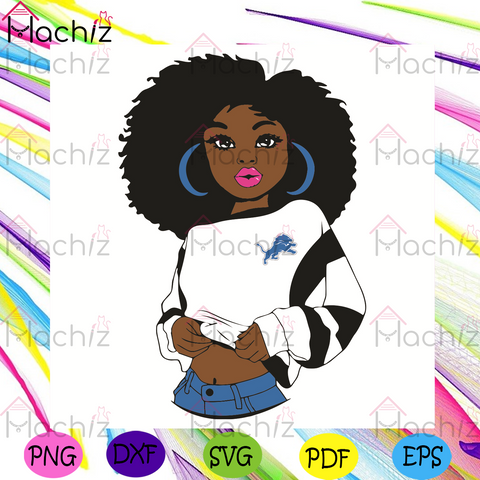 Black Girl Detroit Lions Svg, Sport Svg, Detroit Lions Football Team Svg, Detroit Lions Svg, Black Girl Svg, Detroit Lions Fans Svg, Detroit Lions Gifts Svg, Detroit Lions Logo Svg, Black Girl Gifts Svg, Girl Gifts Svg, Sport Girl Svg