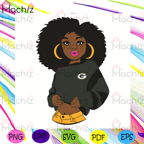 Black Girl Green Bay Packers Svg, Sport Svg, Green Bay Packers Football Team Svg, Green Bay Packers Svg, Black Girl Svg, Green Bay Packers Fans Svg, Green Bay Packers Gifts Svg, Green Bay Packers Logo Svg, Black Girl Gifts Svg