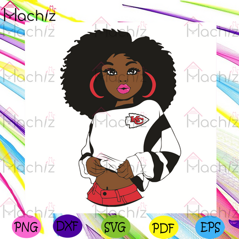 Black Girl Kansas City Chiefs Svg, Sport Svg, Kansas City Chiefs Football Team Svg, Kansas City Chiefs Svg, Black Girl Svg, Kansas City Chiefs Fans Svg, Kansas City Chiefs Gifts Svg, Kansas City Chiefs Logo Svg, Black Girl Gifts Svg
