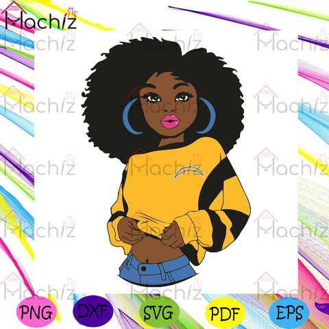 Black Girl Los Angeles ChargersSvg, Sport Svg, Los Angeles Chargers Football Team Svg, Los Angeles Chargers Svg, Black Girl Svg, Los Angeles Chargers Fans Svg, Los Angeles Chargers Gifts Svg, LA Chargers Logo Svg, Sport Girl Svg