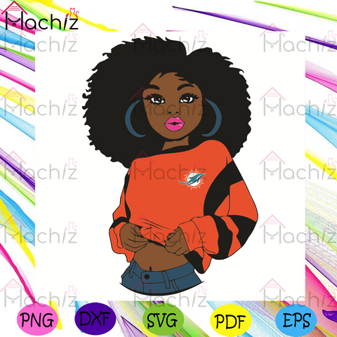 Black Girl Miami Dolphins Svg, Sport Svg, Miami Dolphins Football Team Svg, Miami Dolphins Svg, Black Girl Svg, Miami Dolphins Fans Svg, Miami Dolphins Gifts Svg, Miami Dolphins Logo Svg, Black Girl Gifts Svg, Girl Gifts Svg