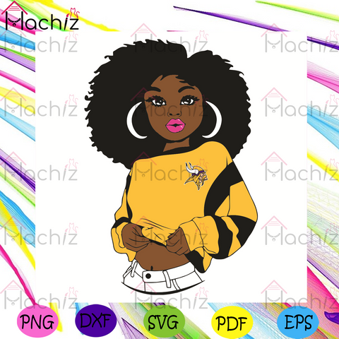 Black Girl Minnesota Vikings Svg, Sport Svg, Minnesota Vikings Football Team Svg, Minnesota Vikings Svg, Black Girl Svg, Minnesota Vikings Fans Svg, Minnesota Vikings Gifts Svg, Minnesota Vikings Logo Svg, Black Girl Gifts Svg