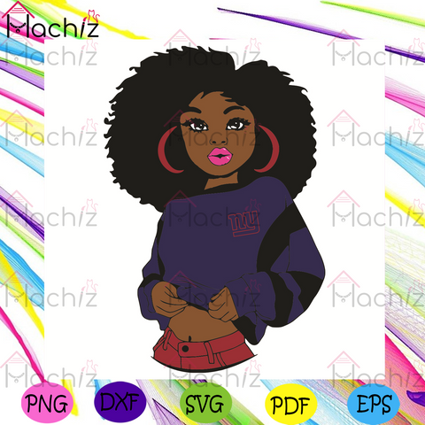 Black Girl New York Giants Svg, Sport Svg, New York Giants Football Team Svg, New York Giants Svg, Black Girl Svg, New York Giants Fans Svg, New York Giants Gifts Svg, New York Giants Logo Svg, Black Girl Gifts Svg, Sport Girl Svg
