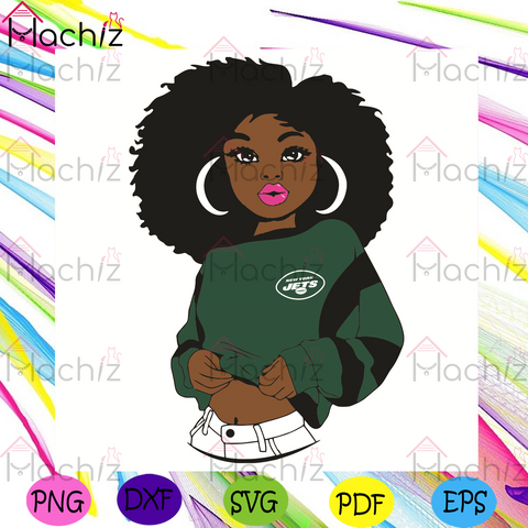 Black Girl New York Jets Svg, Sport Svg, New York Jets Football Team Svg, New York Jets Svg, Black Girl Svg, New York Jets Fans Svg, New York Jets Gifts Svg, New York Jets Logo Svg, Black Girl Gifts Svg, Girl Gifts Svg, Sport Girl Svg