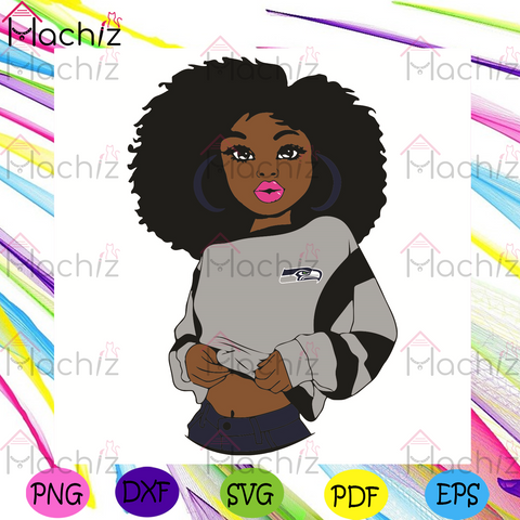 Black Girl Seattle Seahawks Svg, Sport Svg, Seattle Seahawks Football Team Svg, Seattle Seahawks Svg, Black Girl Svg, Seattle Seahawks Fans Svg, Seattle Seahawks Gifts Svg,Seattle Seahawks Logo Svg, Black Girl Gifts Svg