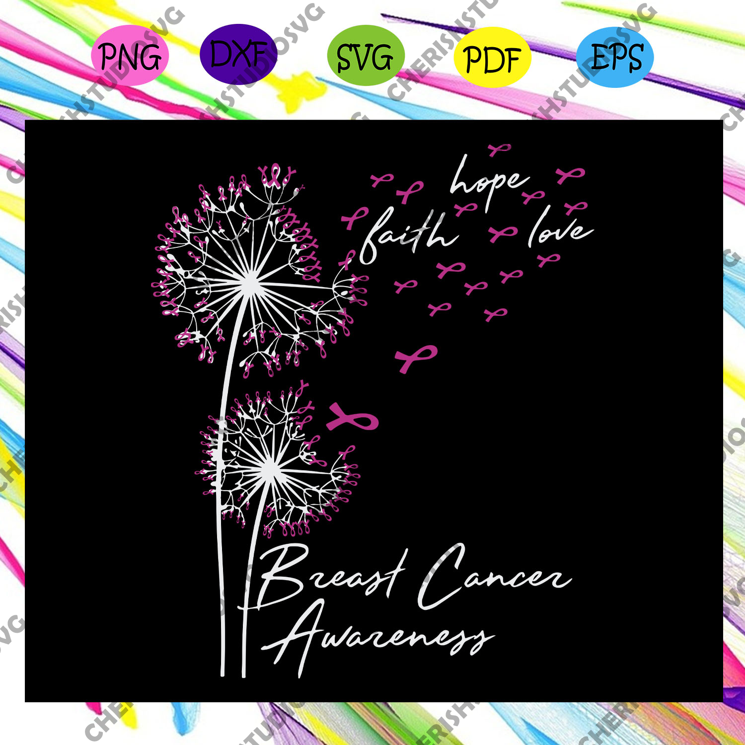 Breast cancer awareness, breast cancer, cancer svg, cancer ribbon, cancer awareness, cancer ribbon svg, trending svg For Silhouette, Files For Cricut, SVG, DXF, EPS, PNG Instant Download