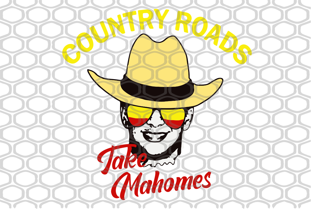 Country roads take mahomes, patrick mahomes, mahomes, pat mahomes, mahomes chiefs, mahomes gift, mahomes lover party, mahomes lover svg,trending svg, Files For Silhouette, Files For Cricut, SVG, DXF, EPS, PNG, Instant Download