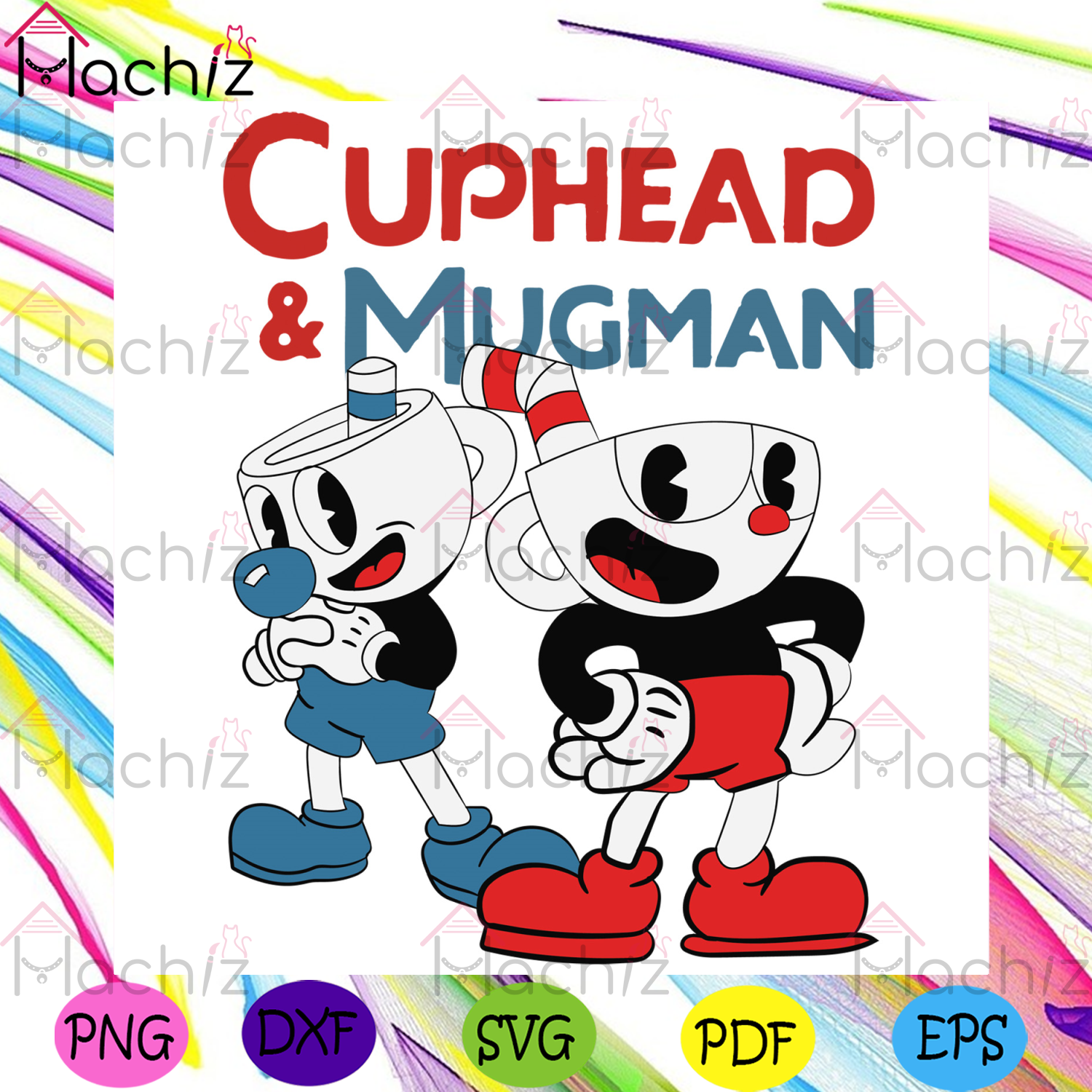 Cuphead And Mugman Svg, Trending Svg, Cuphead Svg, Mugman Svg, Couple Cup Svg, Cuphead Lover, Dynamic Duo Svg, Cuphead Birthday, Cuphead Decor, Party Decoration Svg, Gift For Kids, Svg Cricut