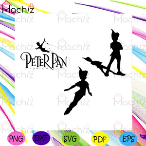 Peter Pan Silhouettes Bundle File Svg, Disney Svg, Disney Character Svg, Cartoon Character Svg, Movie Character Svg, Disney Gift Svg, Peter Pan Svg, Peter Pan Movie Svg, Peter Pan Character Svg, Walt Disney Svg