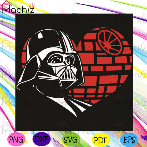 Darth Vader Heart Svg, Valentine Svg,Darth Vader Svg, Heart Svg, Red Heart Svg, Love Svg, Love Gifts Svg, Darth Vader Love Svg, Darth Vader Gifts Svg, Star Wars Svg, Valentine Gifts Svg, Valentine Day Svg, Happy Valentine Day Svg