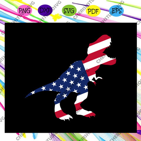 Dinosaur ameican flag, America 4th Of July Patriotic , 4th Of July Svg, Fourth Of July Svg, Patriotic American,Independence Day , Files For Silhouette, Files For Cricut, SVG, DXF, EPS, PNG, Instant Download
