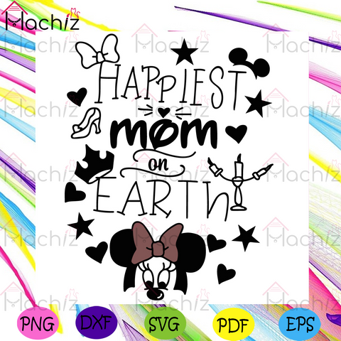 Disney Happiest mom on earth svg, Mothers Day Svg, Mickey Svg, Mom Svg, Earth Svg, Heart Svg, Crown Svg, Star Svg, Knot Svg, Happy Mothers Day Svg, Mothers Day Gift Svg, Mickey Mouse Svg, Minnie Mouse Svg
