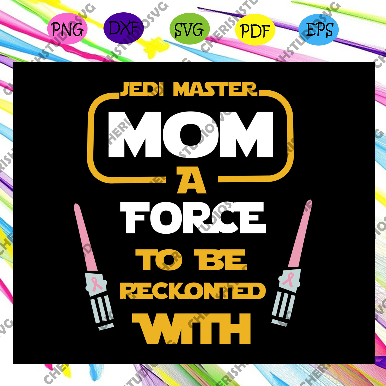 Disney Star Wars, Jedi Master Mom I Am, force to be reckonted with, Digital, Download, TShirt, Cut File, SVG, Iron on, Transfer, Star Wars shirt, star wars clipart,