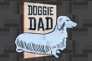 Doggie dad SVG , papa svg, baba svg,father's day svg, father svg,  daddy svg, poppop svg Files For Silhouette, Files For Cricut, SVG, DXF, EPS, PNG, Instant Download