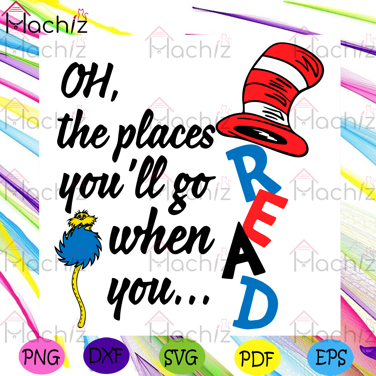 Dr Seuss Oh The Places You Will Go When You Read Svg, Dr Seuss Svg, The Cat In The Hat Svg, Reading Book Svg, The Cat In The Hat Lovers Svg, The Cat In The Hat Gifts Svg, Kid Book Svg, Dr Seuss Book Svg, Dr Seuss Lovers Svg