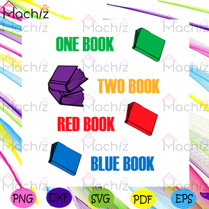 Dr Seuss One Book Two Book Red Book Blue Book Svg, Dr Seuss Svg, Books Svg, Dr Seuss Books Svg, Kid Book Svg, Reading Book Svg, Reading Lovers Svg, Dr Seuss Saying Svg, Dr Seuss Lovers Svg, Dr Seuss Gifts Svg
