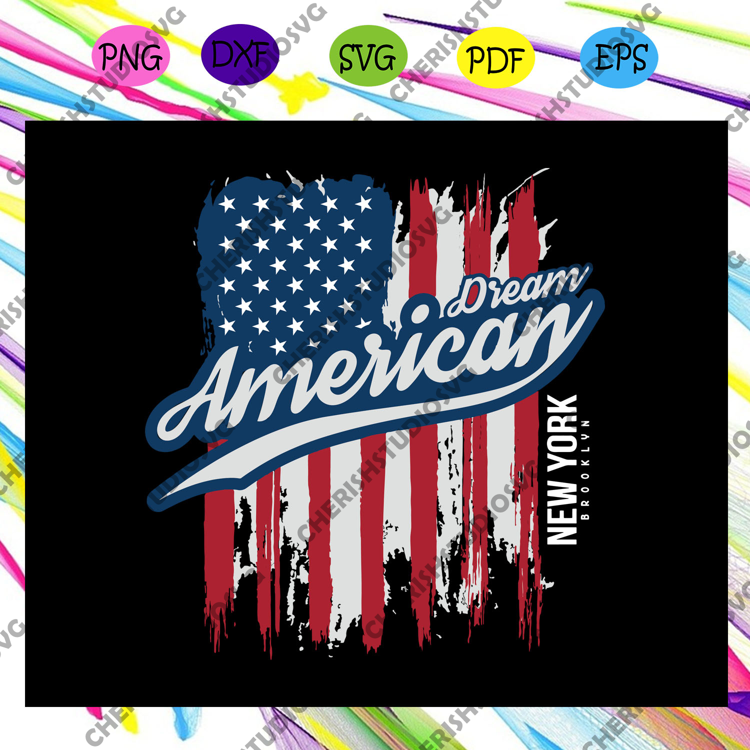 Dream american , New york brooklyn, brooklyn shirt, brooklyn svg, brooklyn gift, brooklyn festival, i love brooklyn ,trending svg Files For Silhouette, Files For Cricut, SVG, DXF, EPS, PNG, Instant Download