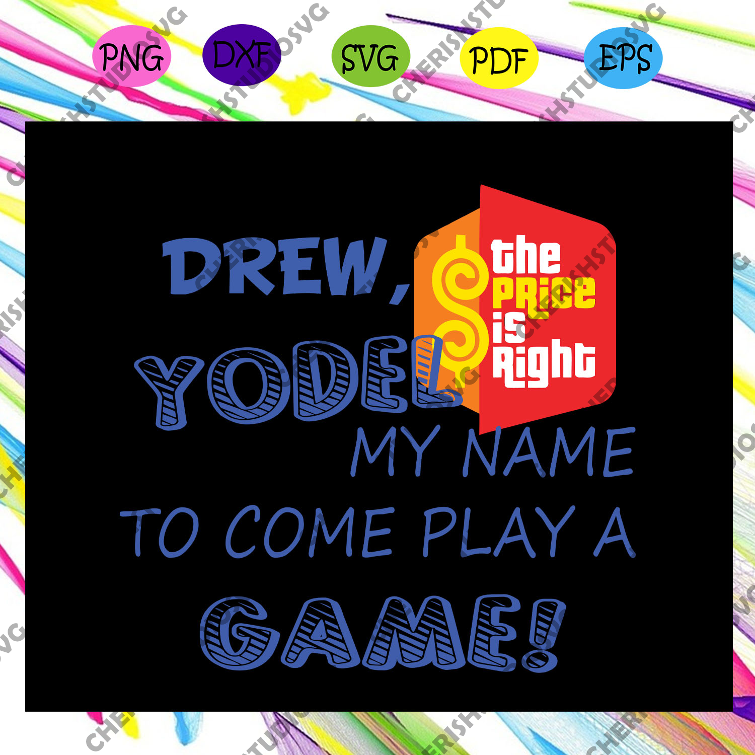 Drew yodel my name to come play a game, game day, vintage game, game gift, game svg,trending svg For Silhouette, Files For Cricut, SVG, DXF, EPS, PNG Instant Download