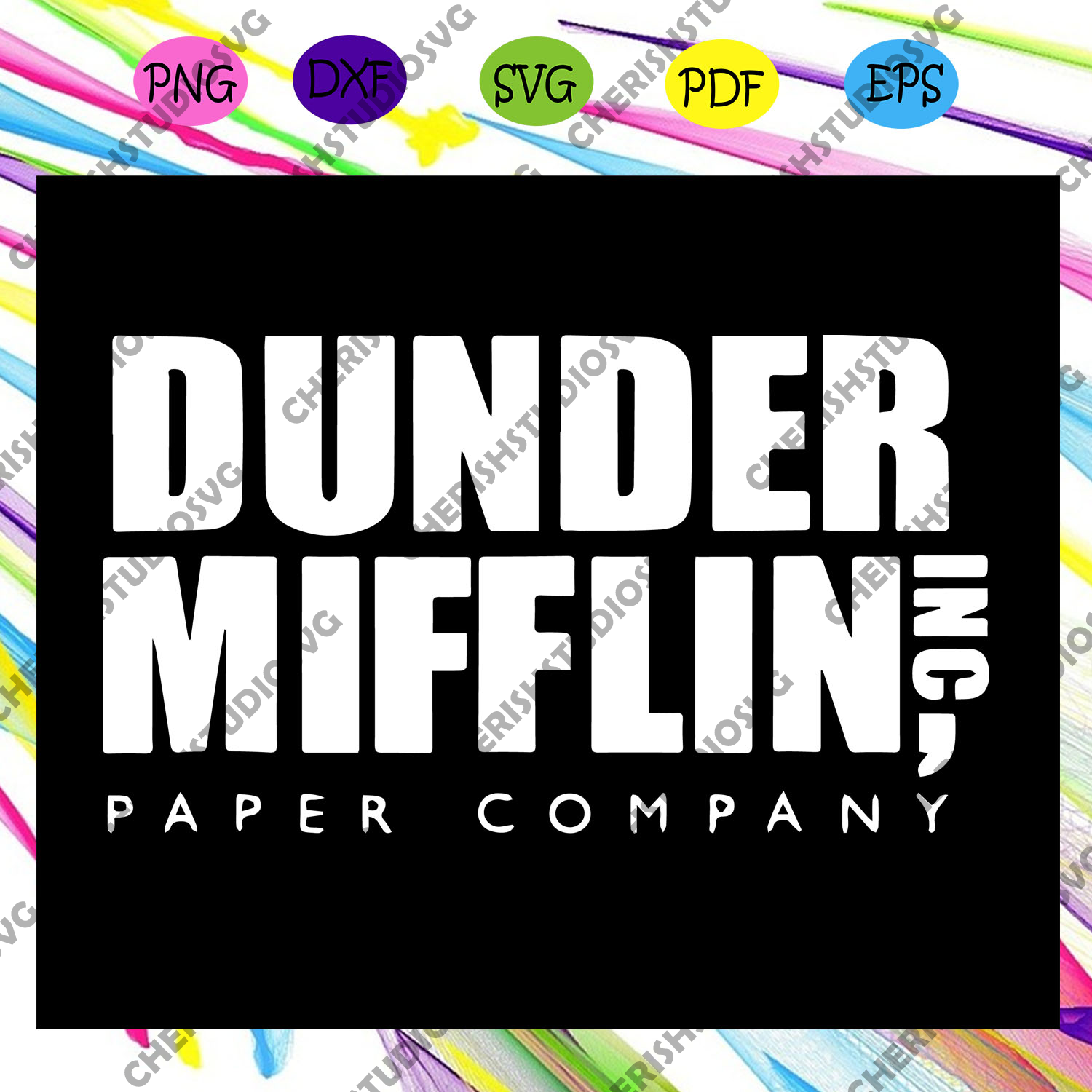 Dunder Mifflin Paper Company Svg, The Office Svg, Dunder Miffin Svg, Michael Scott For Silhouette, Files For Cricut, SVG, DXF, EPS, PNG Instant Download