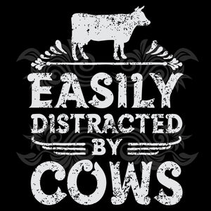 Easily distracted by cows ,  cow svg, cow gifts, cow shirt, cow farmer, farm animal, funny cow, cow lover gifts, farm gifts, farm life, trending svg, Files For Silhouette, Files For Cricut, SVG, DXF, EPS, PNG, Instant Download