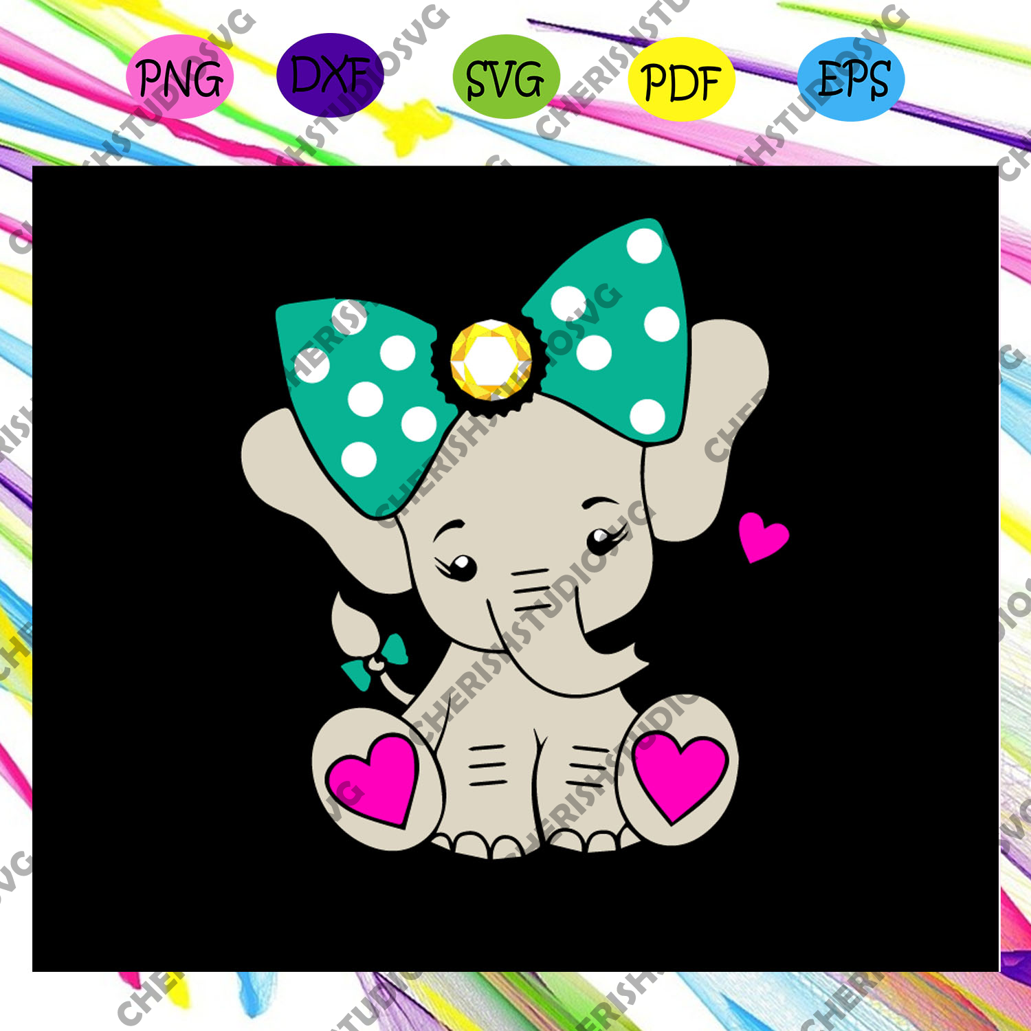 Elephant love, animal lover gift, elephant gift, elephant shirt, elephant clipart, elephant lover gift, elephant owner svg,trending svg For Silhouette, Files For Cricut, SVG, DXF, EPS, PNG Instant Download